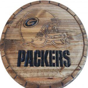 Green Bay Packers Barrel Tops